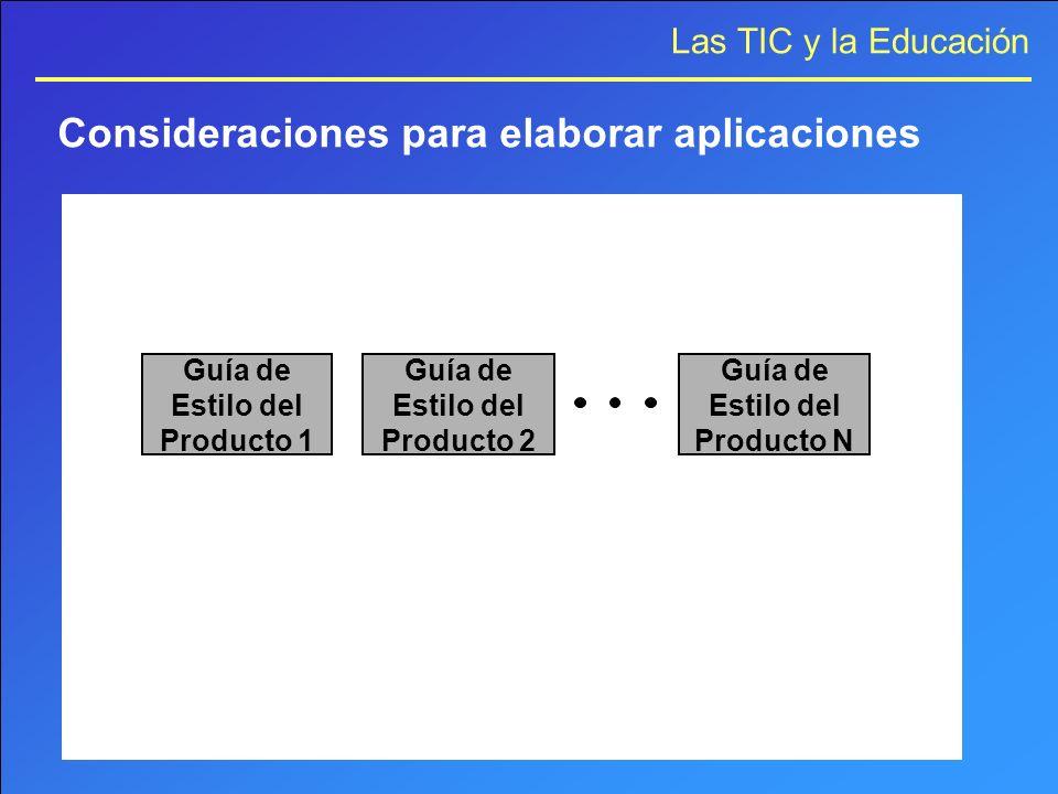 Consideraciones para elaborar aplicaciones