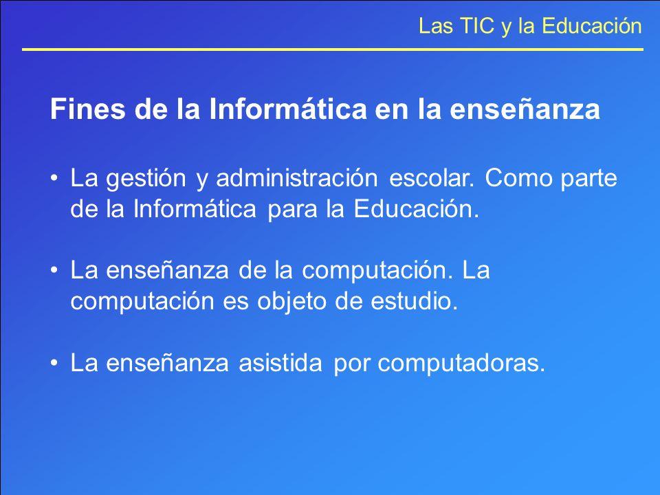 Fines de la Informática en la enseñanza