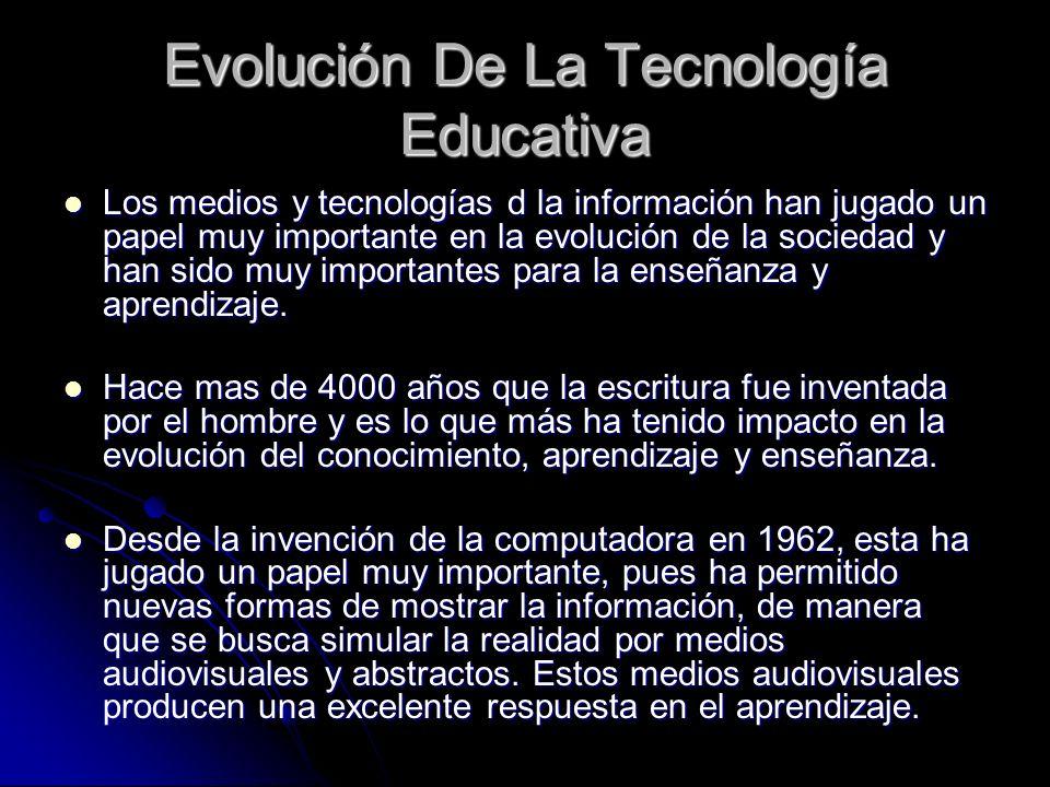 Evolución De La Tecnología Educativa