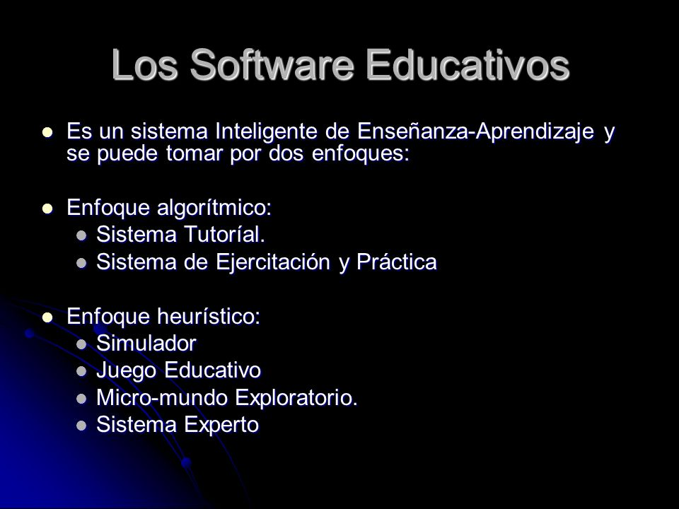 Los Software Educativos
