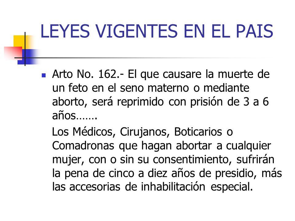 LEYES VIGENTES EN EL PAIS