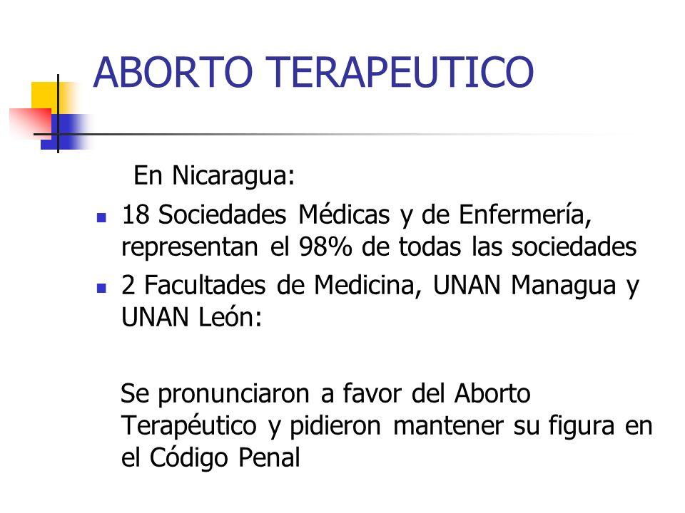 ABORTO TERAPEUTICO En Nicaragua: