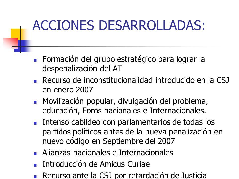 ACCIONES DESARROLLADAS: