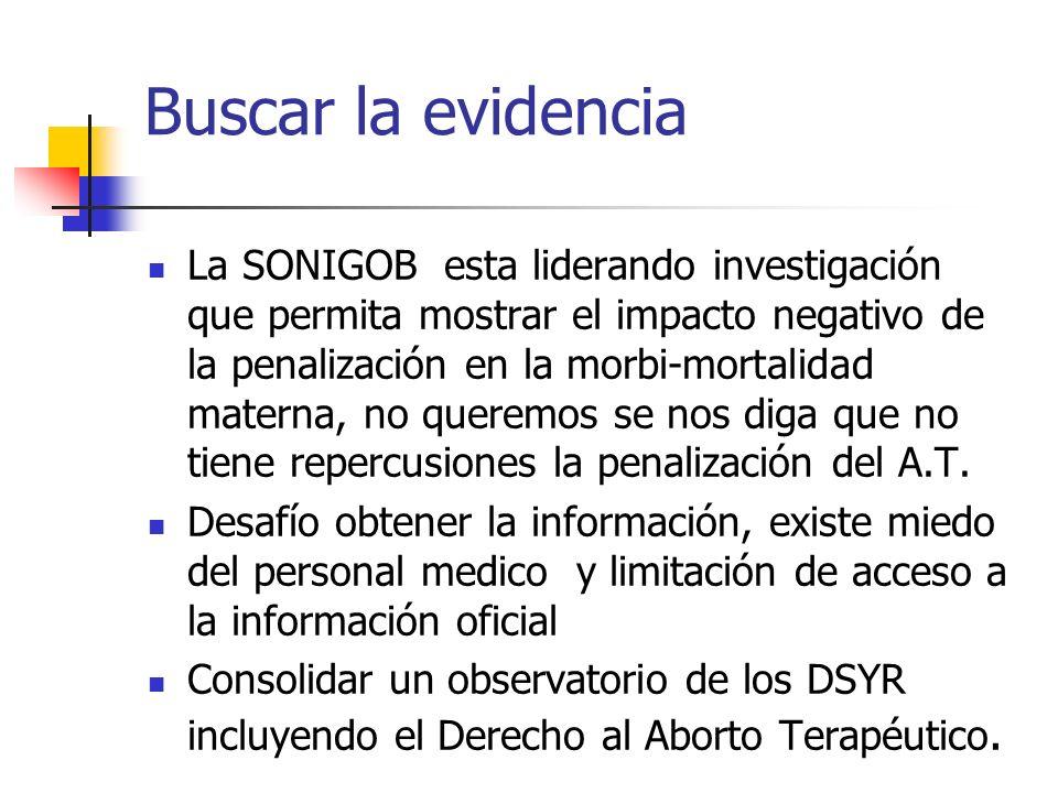 Buscar la evidencia