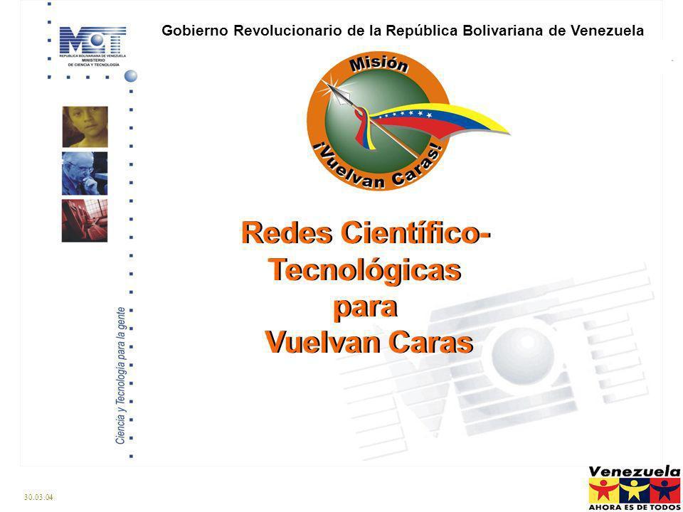 Redes Científico-Tecnológicas para Vuelvan Caras