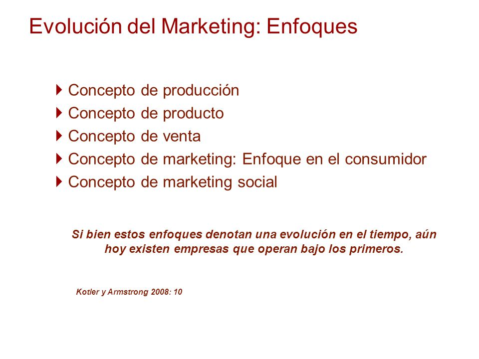 Evolución del Marketing: Enfoques