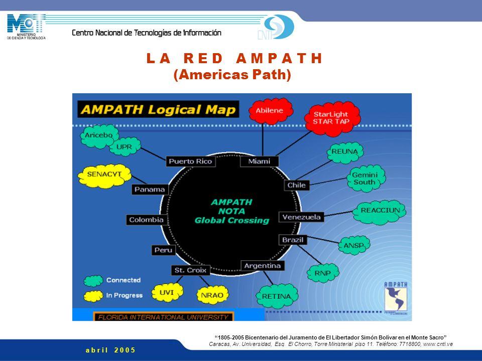 L A R E D A M P A T H (Americas Path)