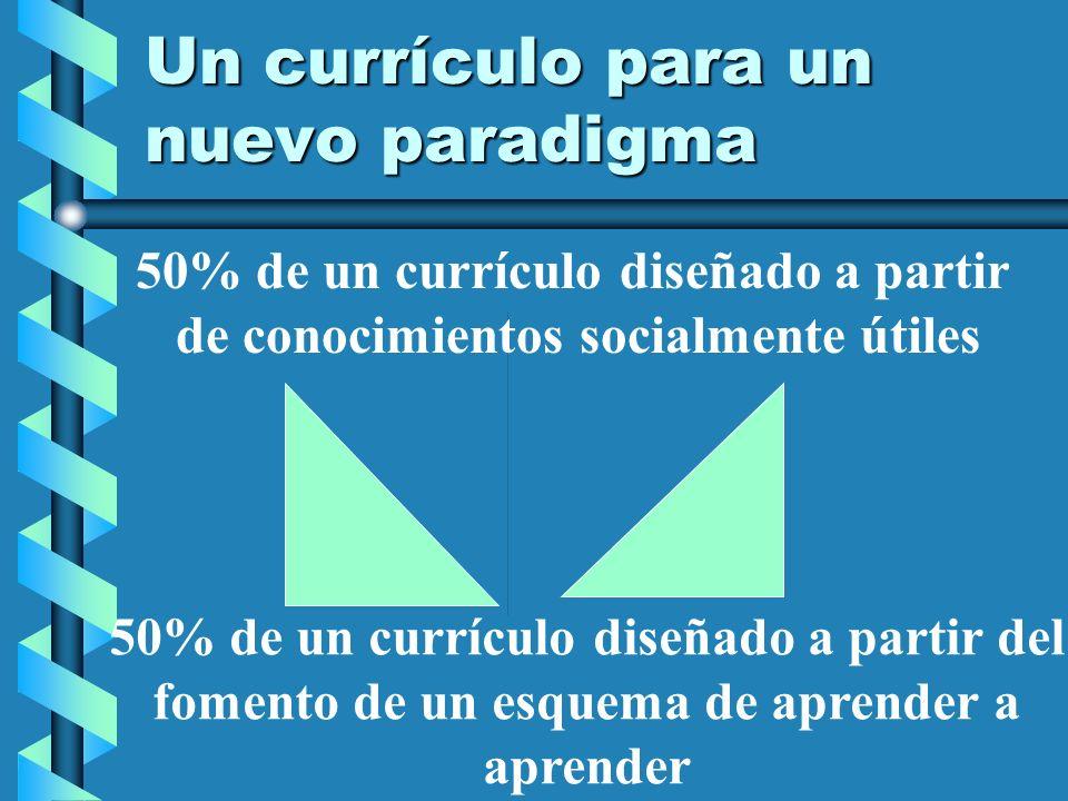 Un currículo para un nuevo paradigma