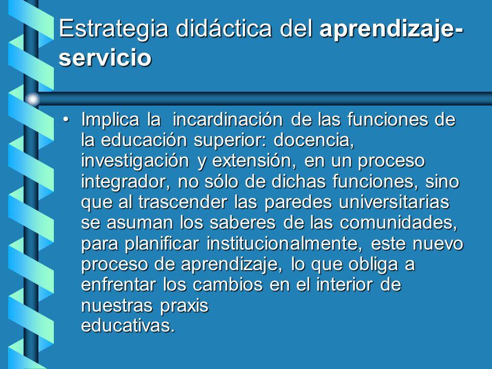 Estrategia didáctica del aprendizaje- servicio