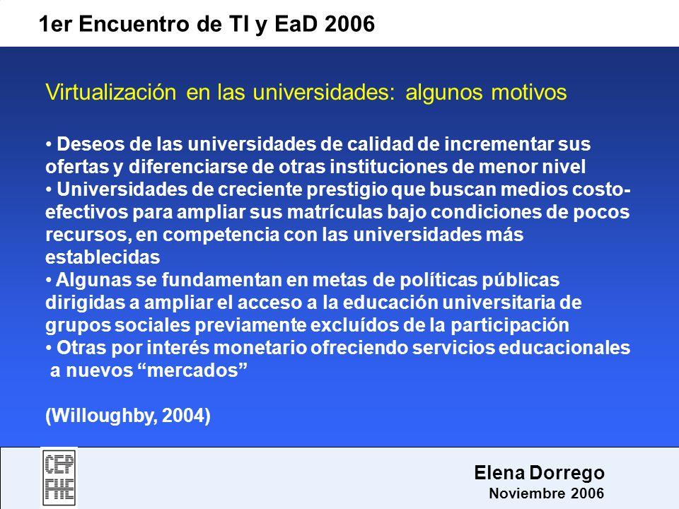 Virtualización en las universidades: algunos motivos