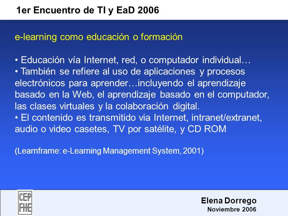 e-learning como educación o formación