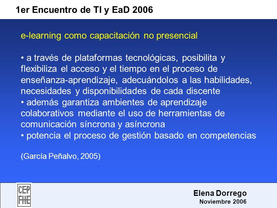 e-learning como capacitación no presencial