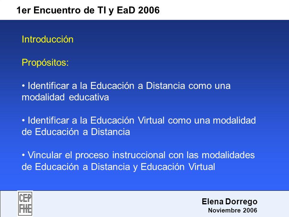Identificar a la Educación a Distancia como una modalidad educativa