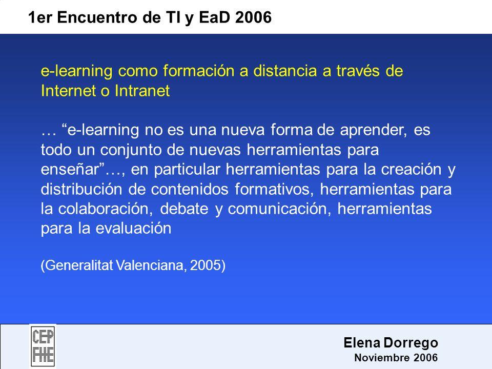 e-learning como formación a distancia a través de Internet o Intranet