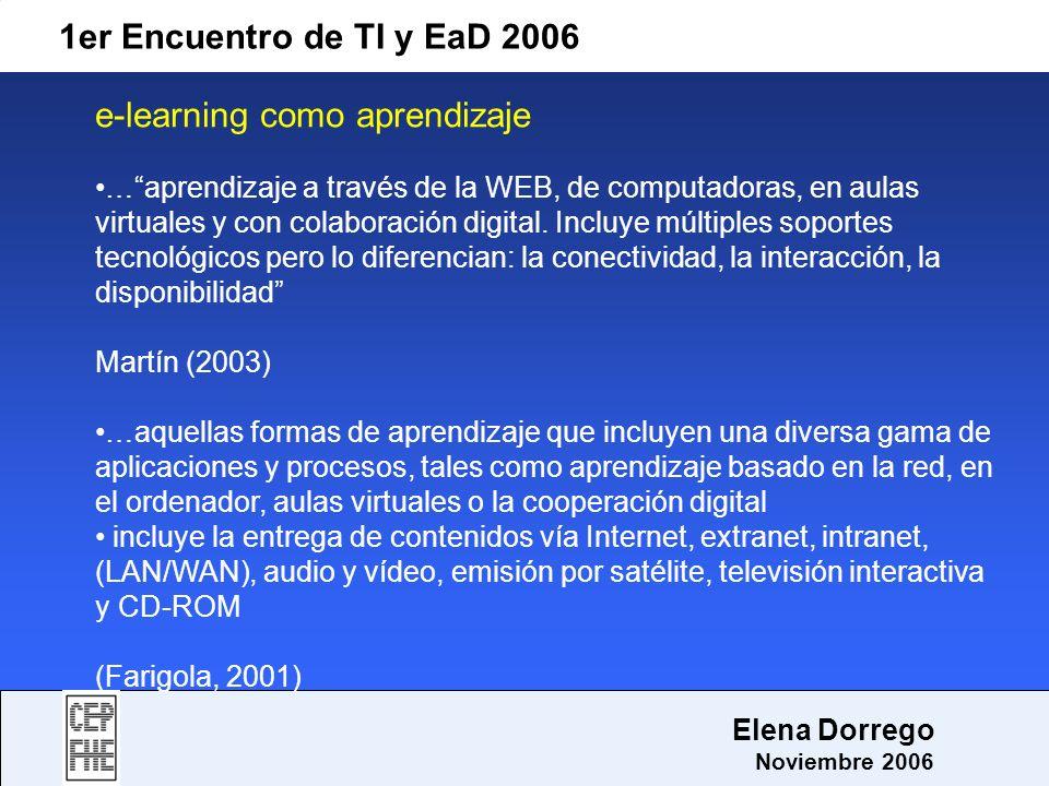 e-learning como aprendizaje
