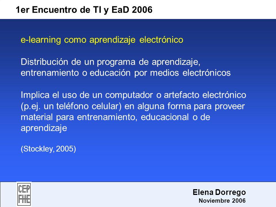 e-learning como aprendizaje electrónico