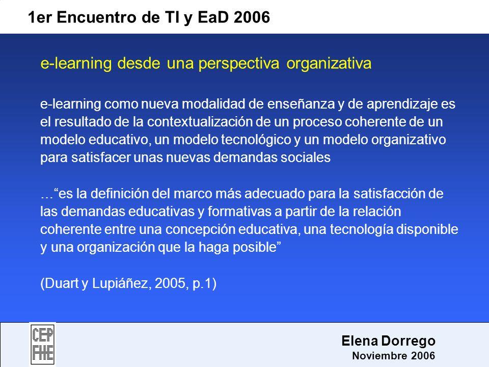 e-learning desde una perspectiva organizativa