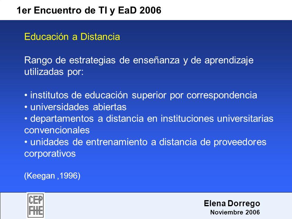 Rango de estrategias de enseñanza y de aprendizaje utilizadas por: