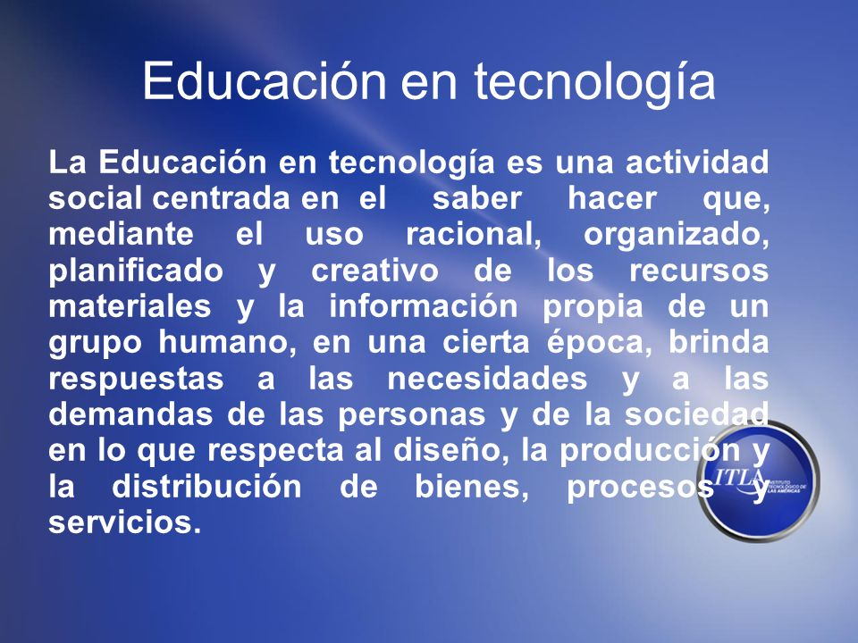 Educación en tecnología