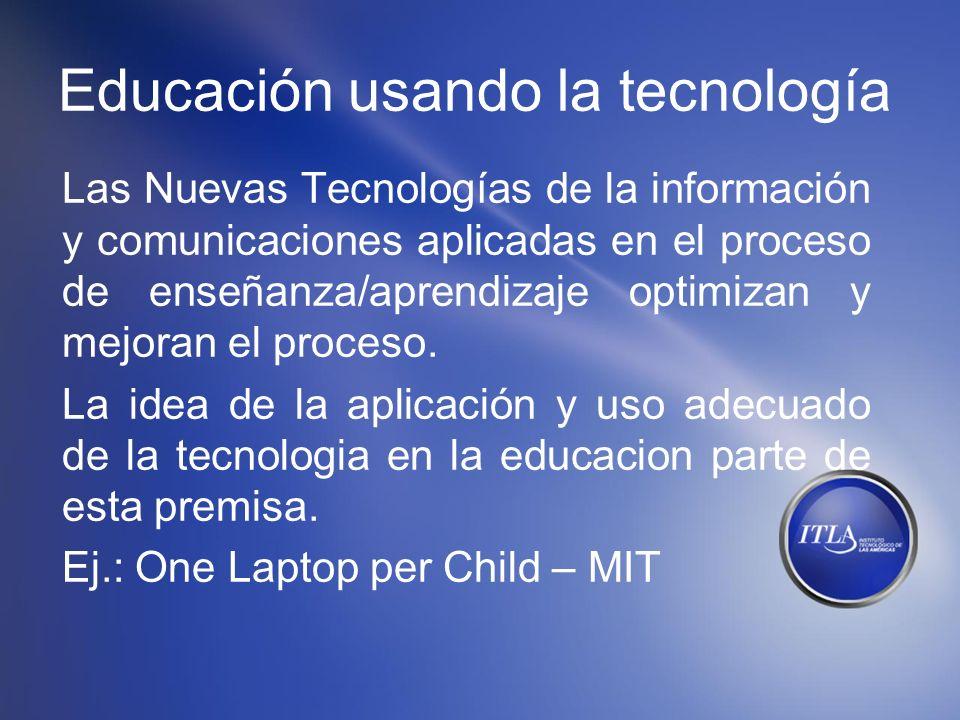 Educación usando la tecnología