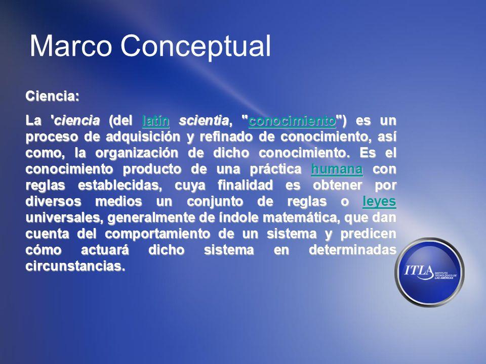 Marco Conceptual Ciencia: