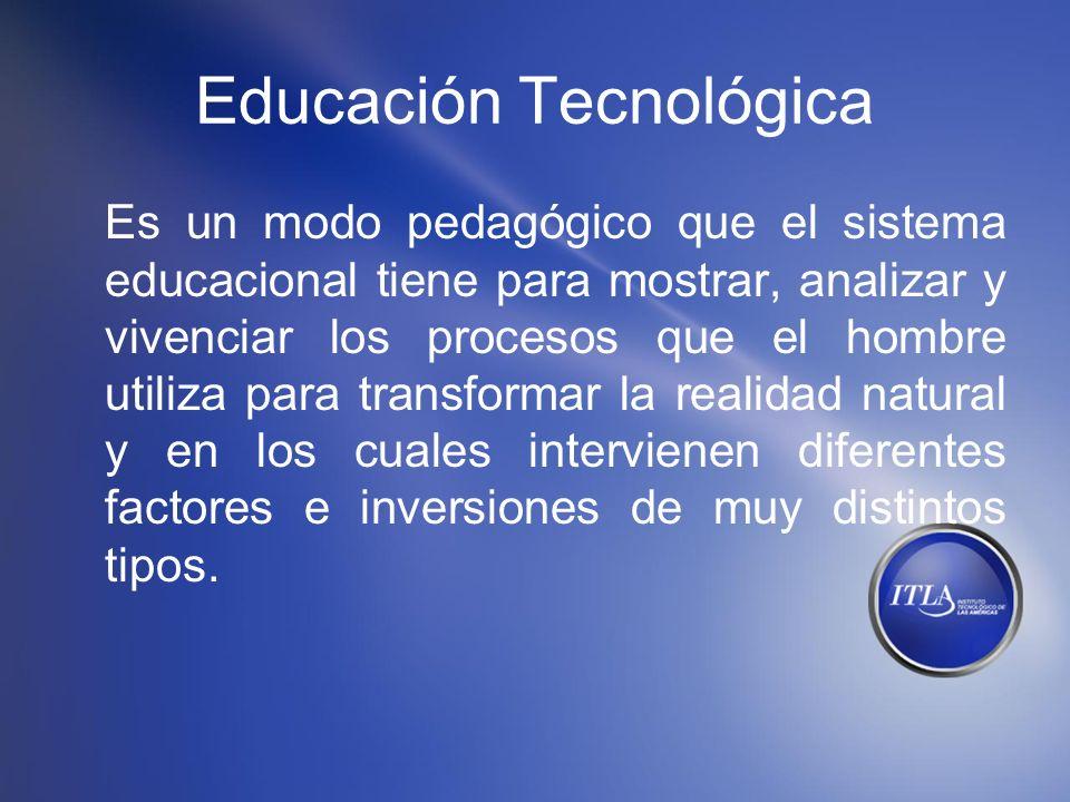 Educación Tecnológica