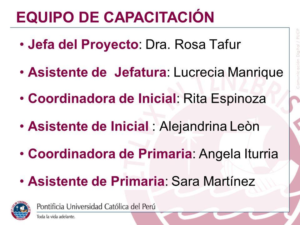 EQUIPO DE CAPACITACIÓN