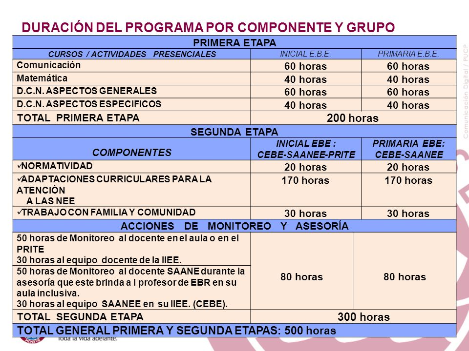 CURSOS / ACTIVIDADES PRESENCIALES ACCIONES DE MONITOREO Y ASESORÍA