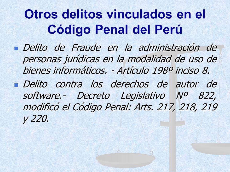 Otros delitos vinculados en el Código Penal del Perú