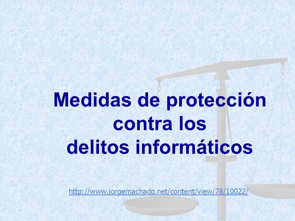 Medidas de protección contra los delitos informáticos