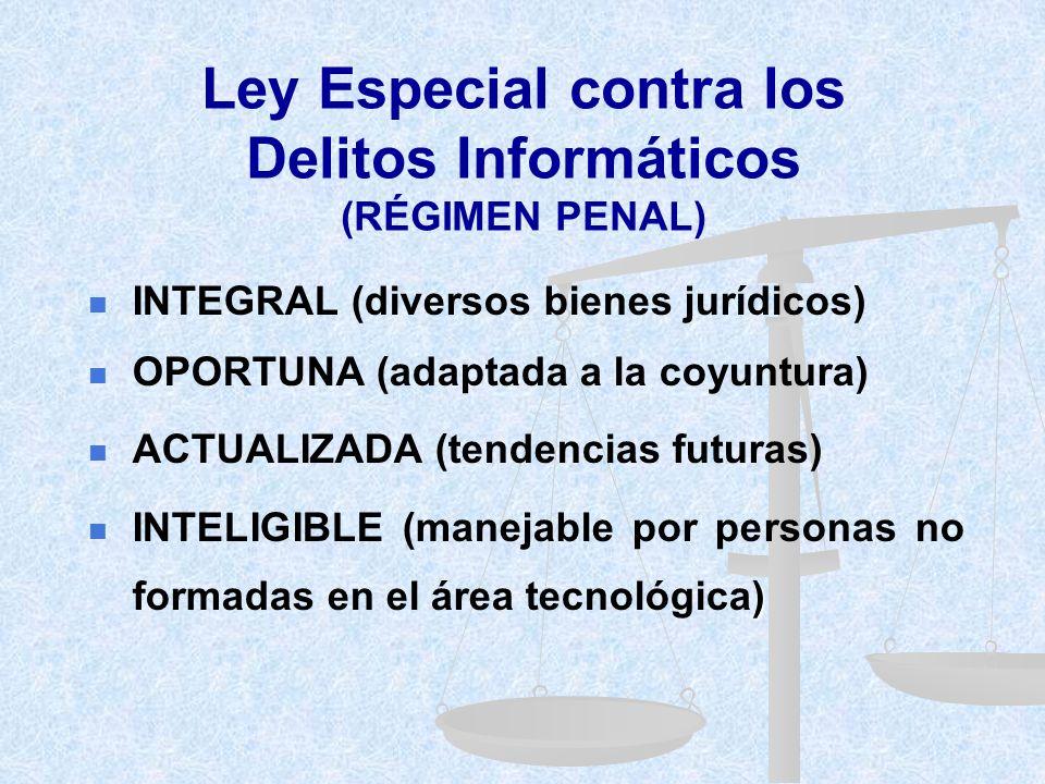 Ley Especial contra los Delitos Informáticos (RÉGIMEN PENAL)