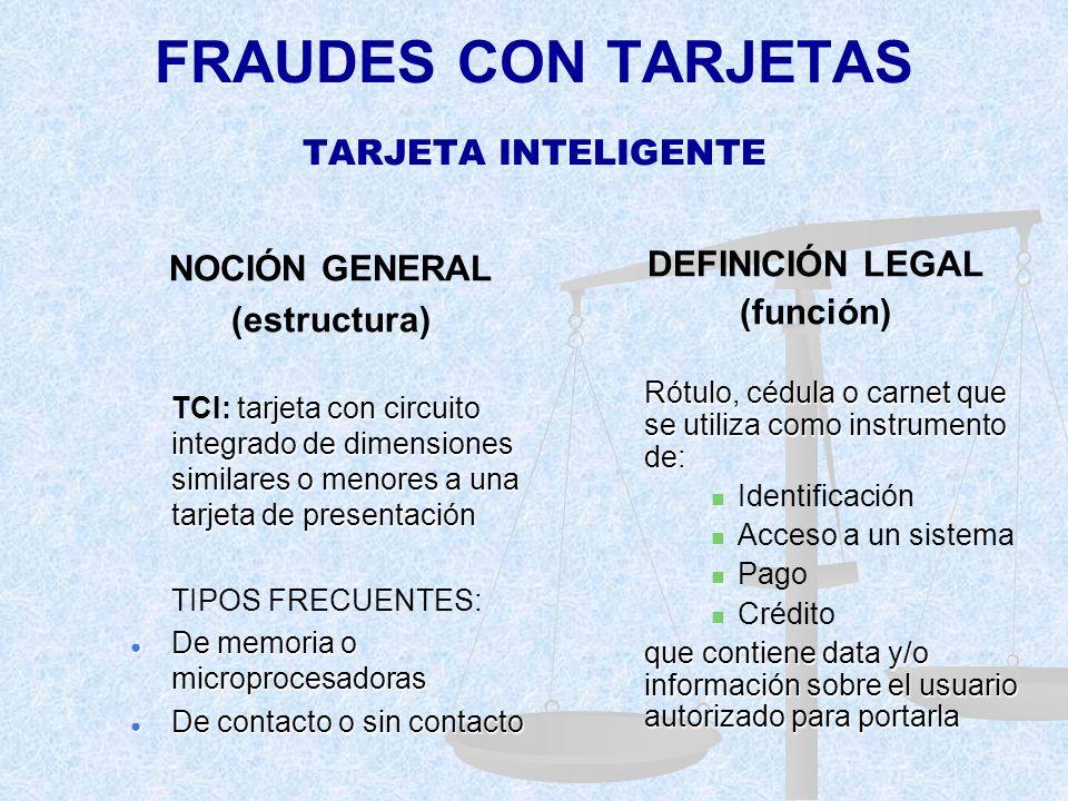 FRAUDES CON TARJETAS TARJETA INTELIGENTE