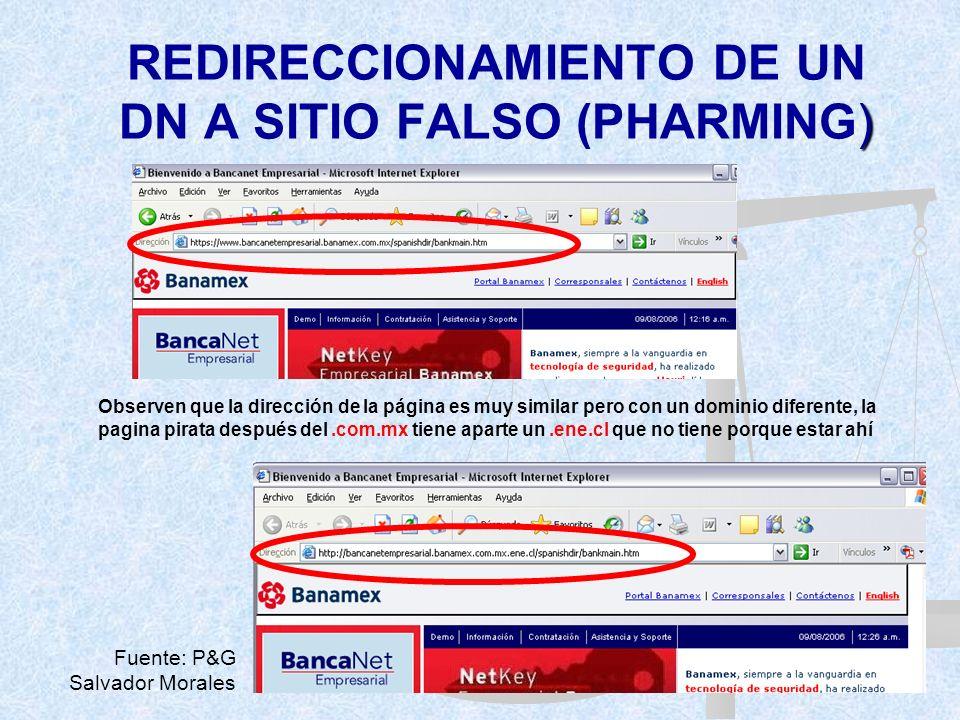 REDIRECCIONAMIENTO DE UN DN A SITIO FALSO (PHARMING)