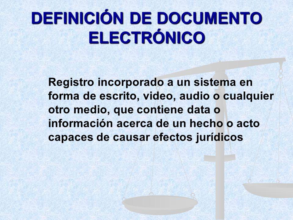 DEFINICIÓN DE DOCUMENTO ELECTRÓNICO