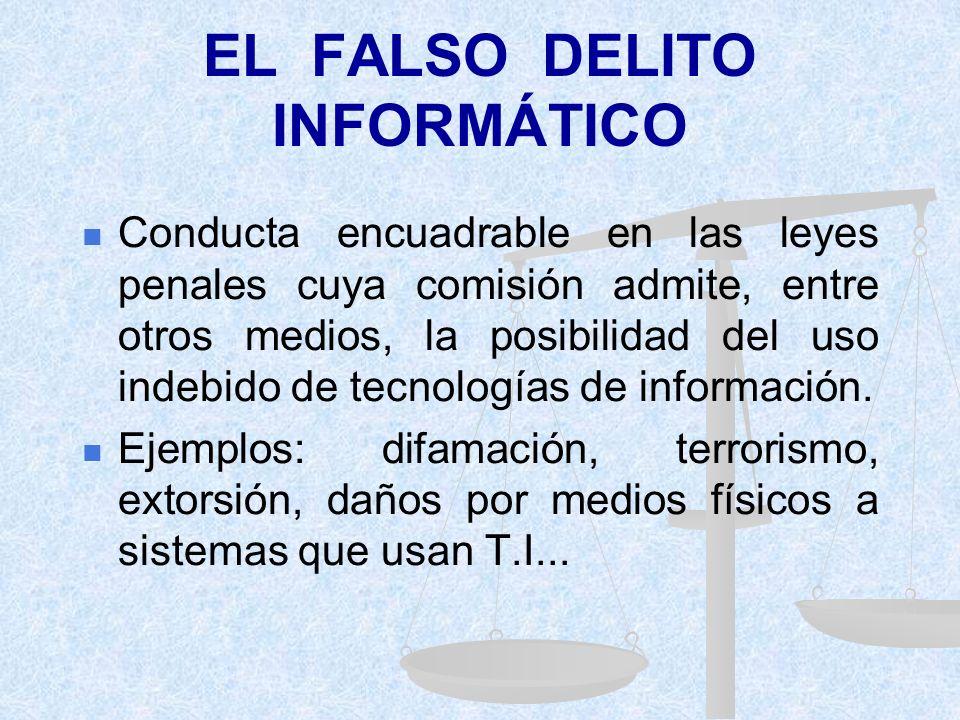 EL FALSO DELITO INFORMÁTICO