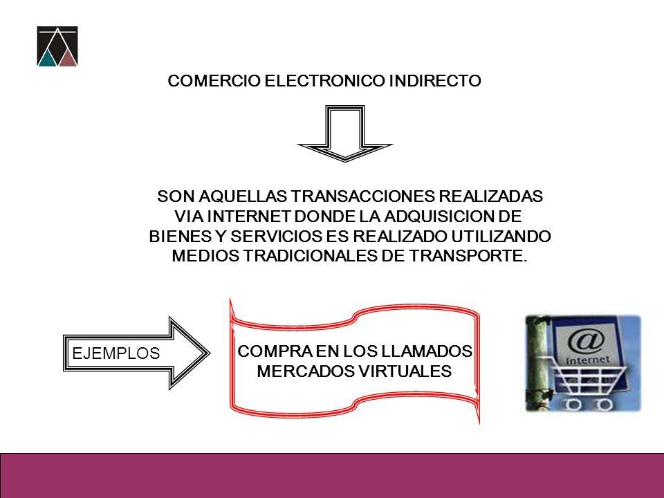 COMERCIO ELECTRONICO INDIRECTO