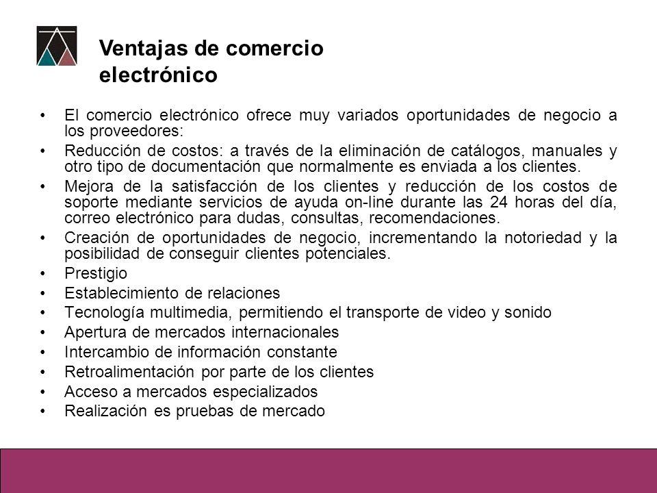Ventajas de comercio electrónico