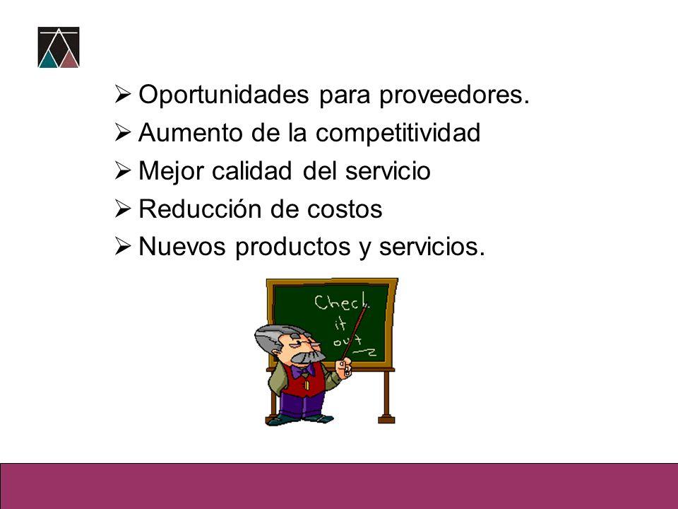 Oportunidades para proveedores.