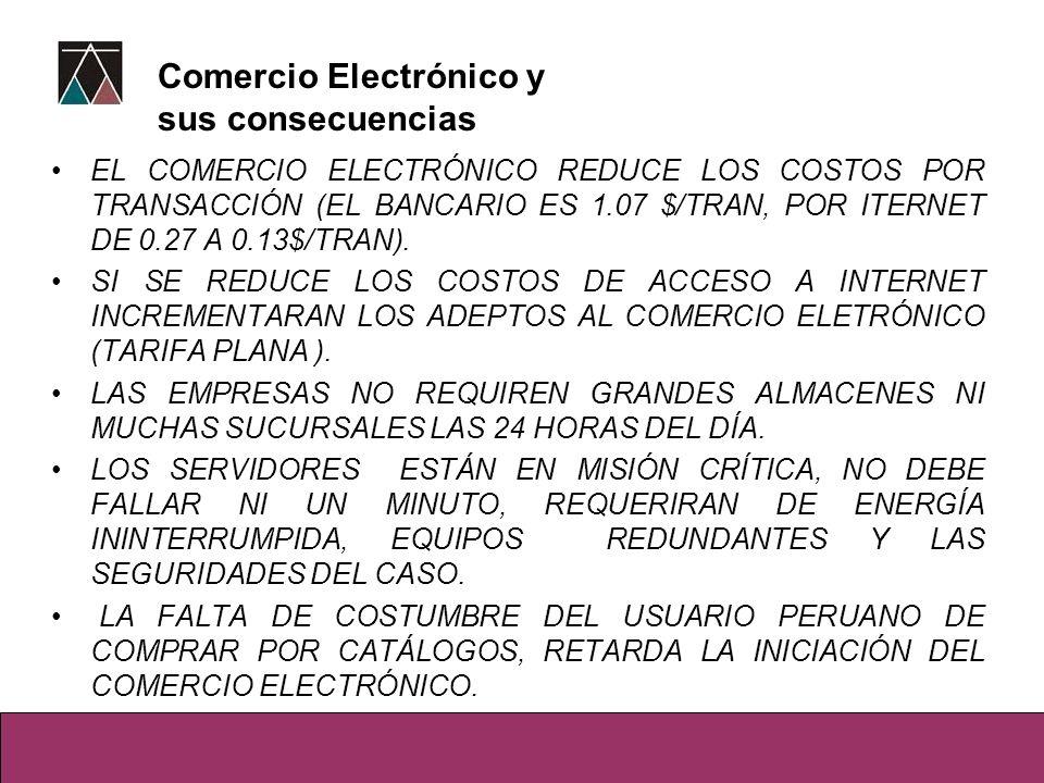 Comercio Electrónico y sus consecuencias