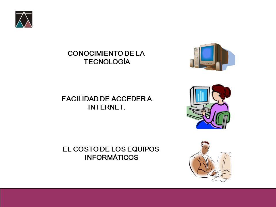 FACILIDAD DE ACCEDER A INTERNET.