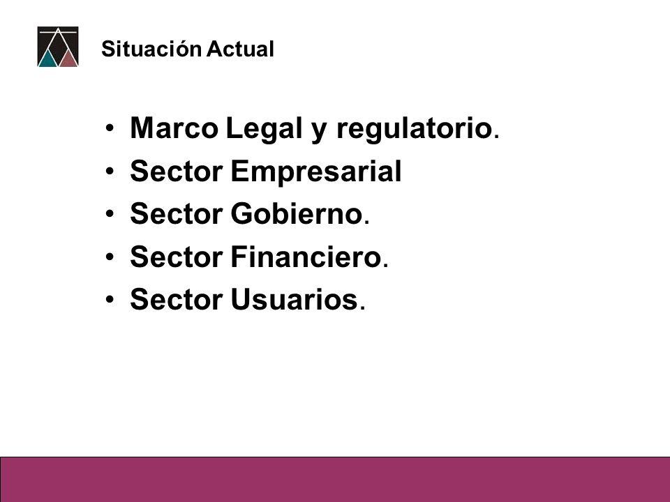 Marco Legal y regulatorio. Sector Empresarial Sector Gobierno.