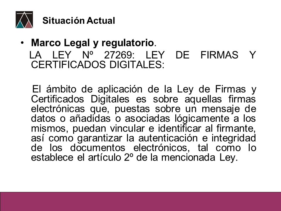 Marco Legal y regulatorio.
