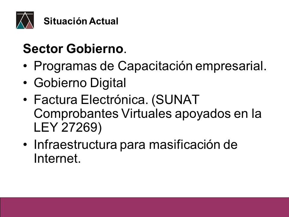 Programas de Capacitación empresarial. Gobierno Digital