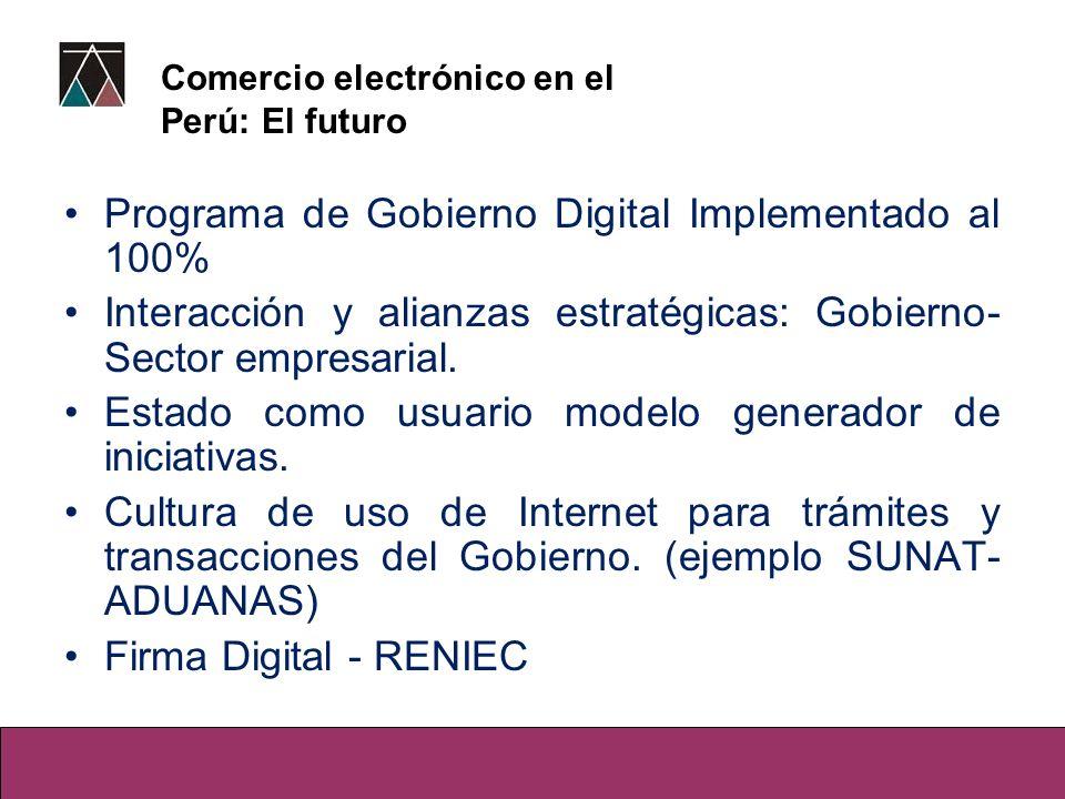 Programa de Gobierno Digital Implementado al 100%