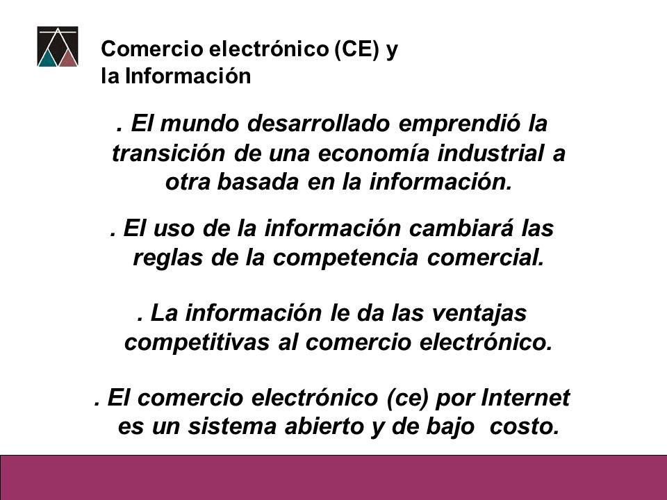 Comercio electrónico (CE) y