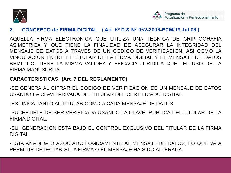 2. CONCEPTO de FIRMA DIGITAL. ( Art. 6º D