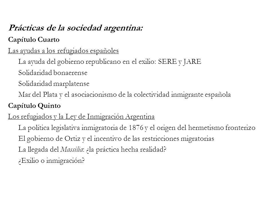Prácticas de la sociedad argentina: