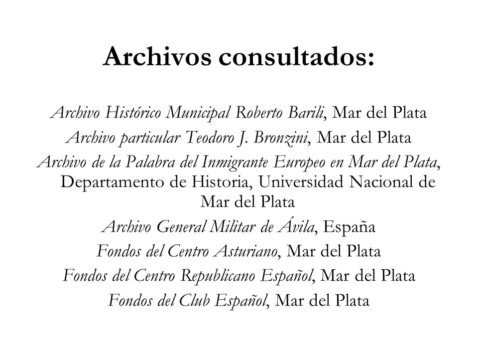 Archivos consultados: