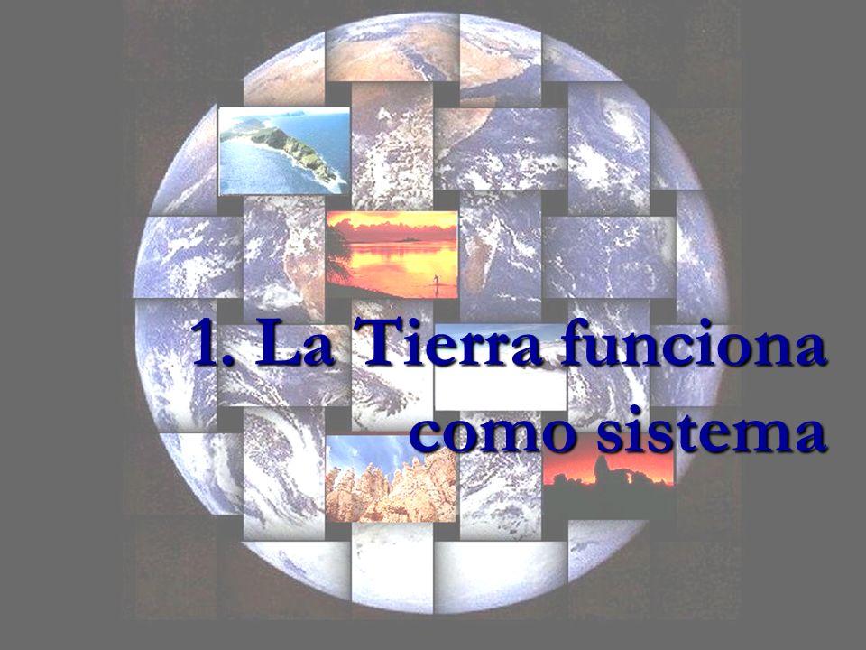 1. La Tierra funciona como sistema