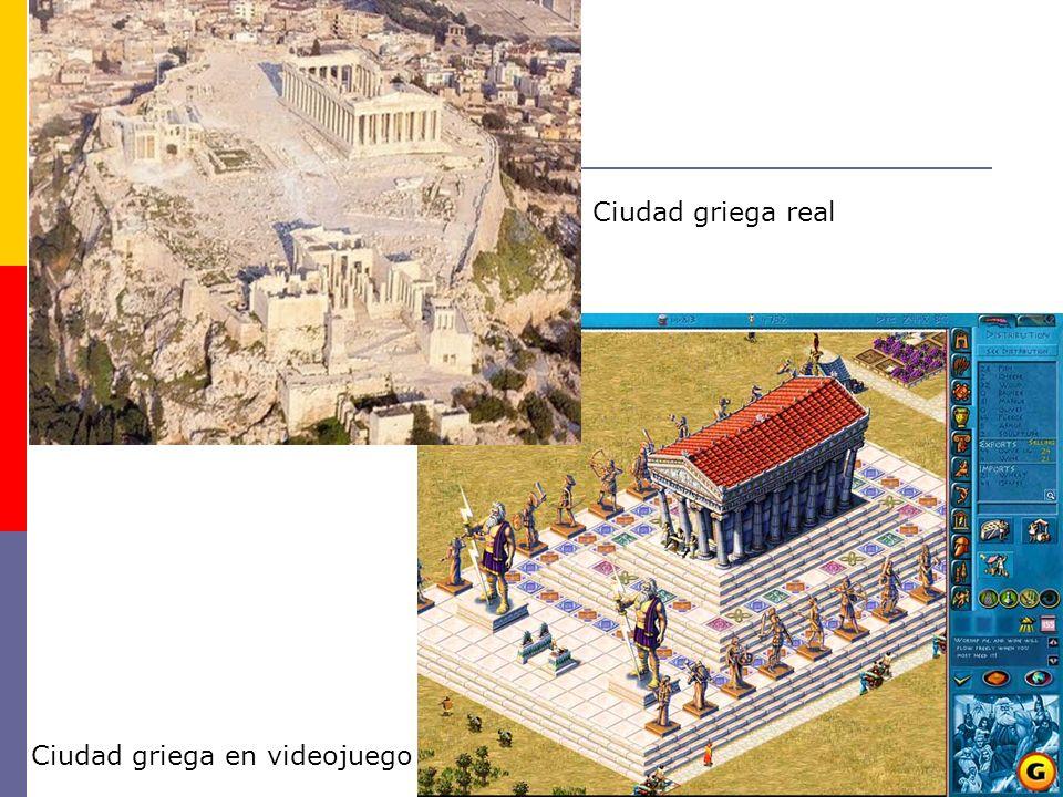 Ciudad griega real Ciudad griega en videojuego